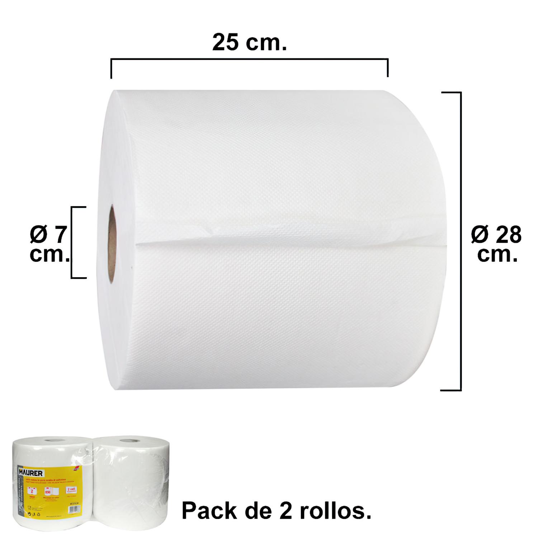 Rollo Papel Secamanos Industrial  850 Servicios Por Rollo (2 Rollos)