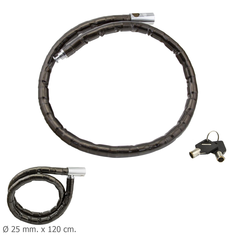 Piton Moto Blindado Llave Tubular 25 mm. x 120 cm.