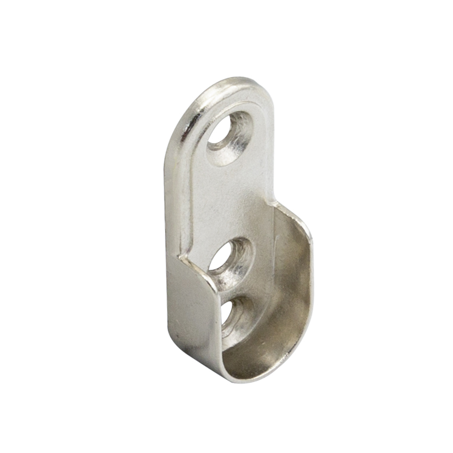 Soporte Lateral Barra Oval Niquel 15x22 mm.