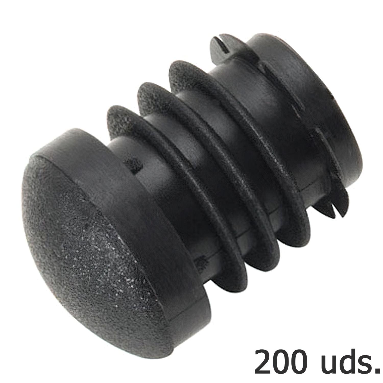 Contera Plastico Redonda Interior Negra Para Tubo Exterior Ø 18 mm. Bolsa 200 Unidades