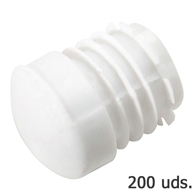 Contera Plastico Redonda Interior Blanca Para Tubo Exterior Ø 28 mm. Bolsa 200 Unidades