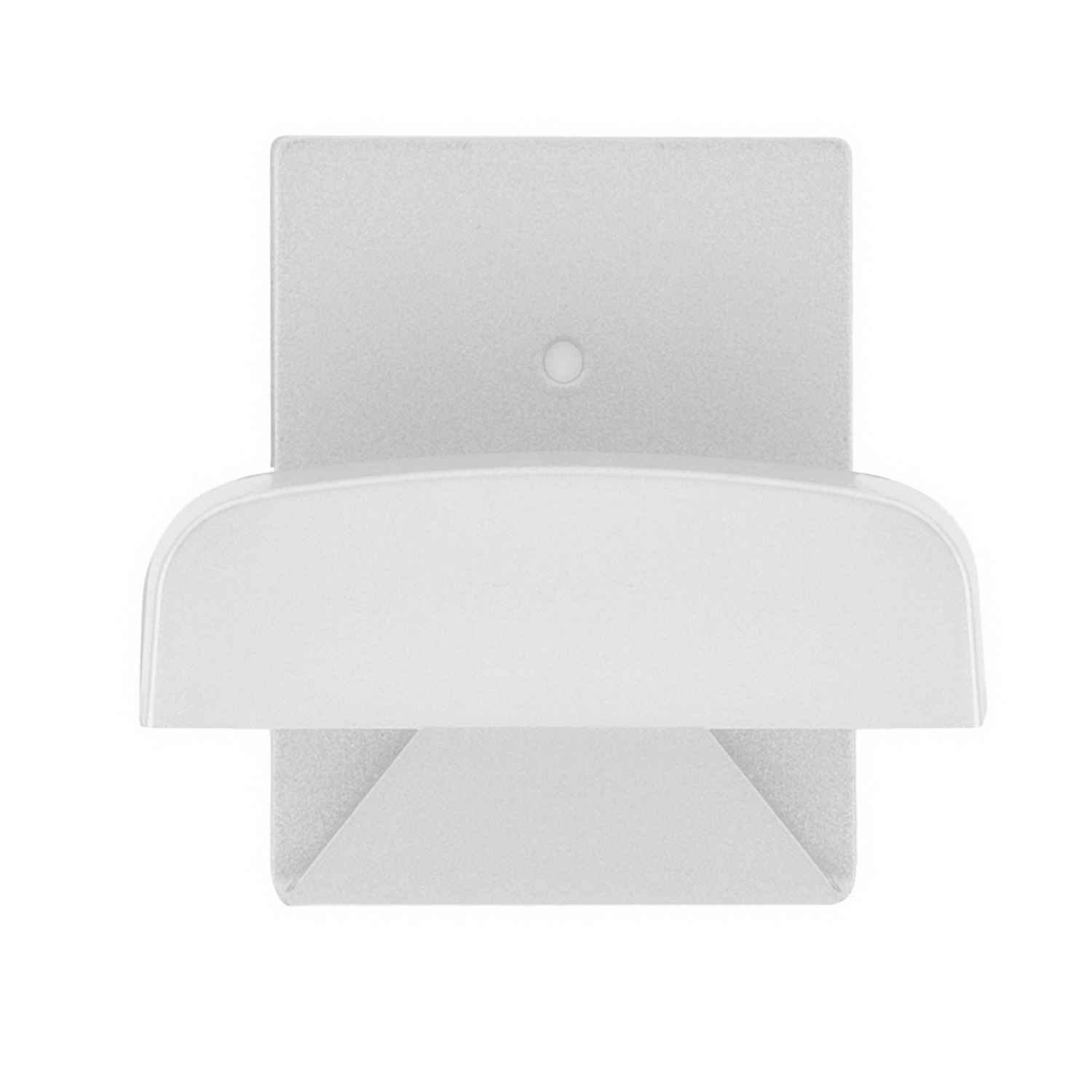 Colgador Percha Adhesivo Acero Inoxidable Color Blanco