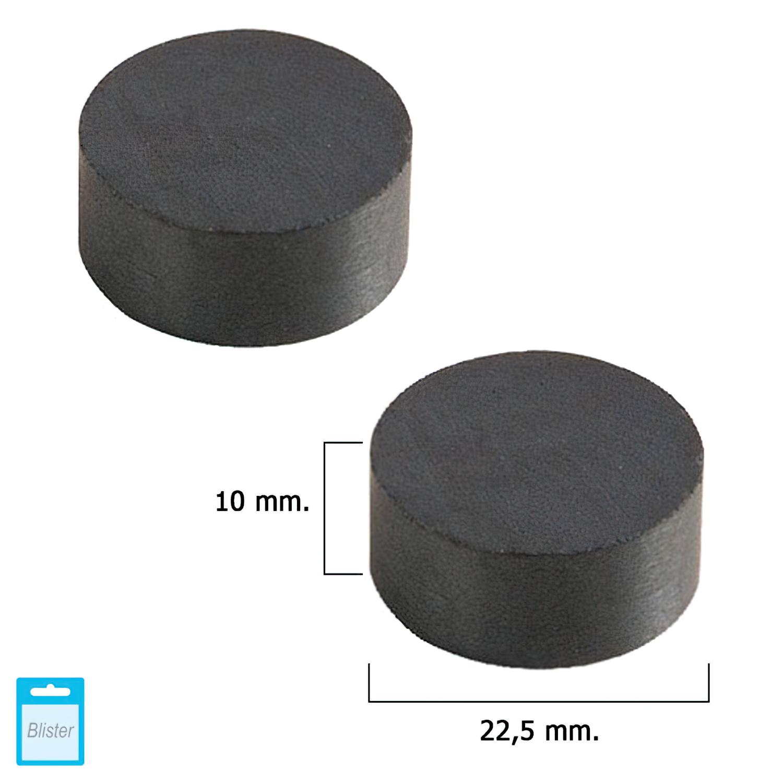 Iman Wolfpack Ferrita Redondo Ø 22,5x10 mm. (Blister 2 Piezas)