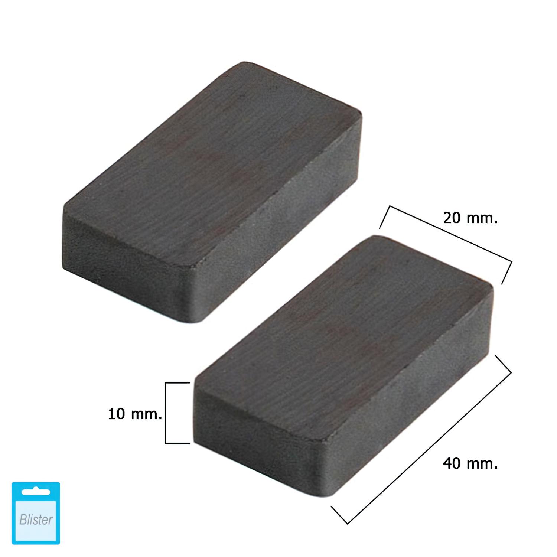 Iman Wolfpack Ferrita Rectangular 40x20x10 mm. (Blister 2 Piezas)