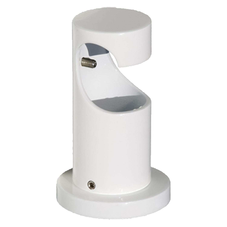 Soporte Zirconio Techo Largo Para barras Ø 20 mm Acabado Blanco
