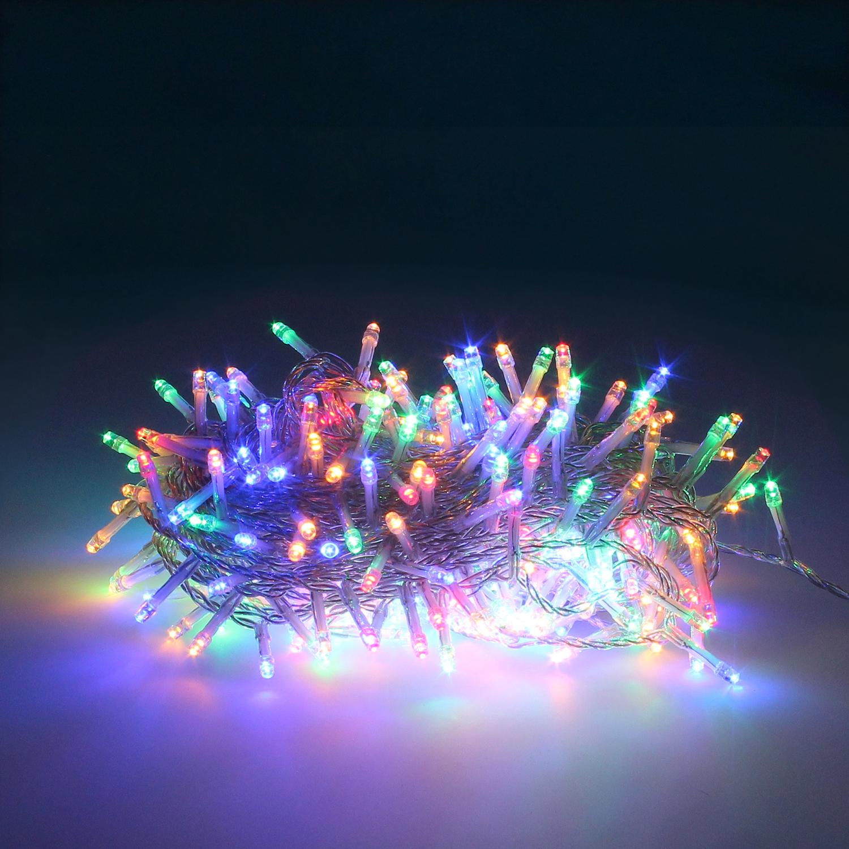 Guinalda Luces Navidad 300 Leds Color Multicolor. Luz Navidad Interiores y Exteriores Ip44. Cable Tr