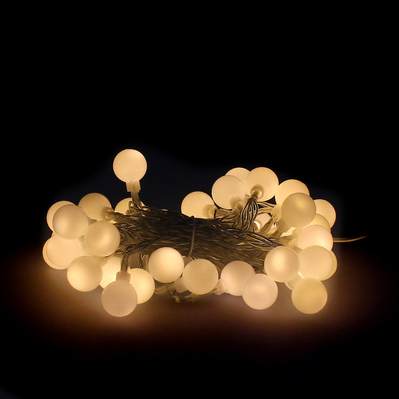 Guinalda Luces Navidad Esfera 40 Leds Blanco Calido. Luz Navidad Interiores y Exteriores Ip44