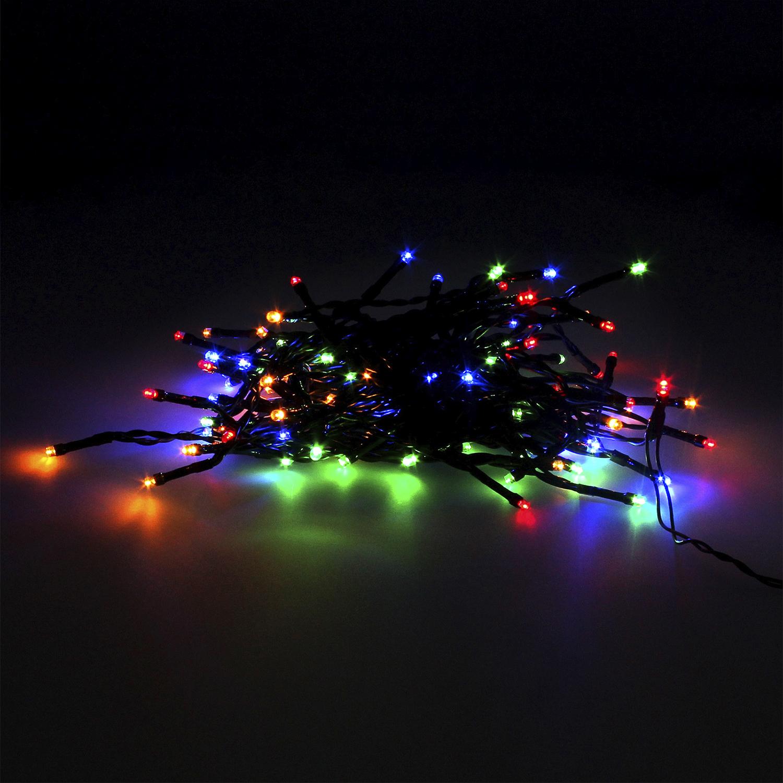 Guinalda Luces Navidad 100 Leds Color Multicolor. Luz navidad interiores y exteriores IP44. Funcina