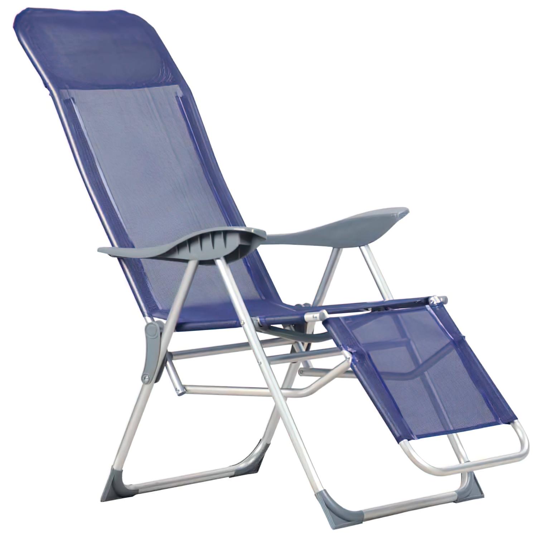 Silla Playa Aluminio Atril 5 posiciones Con resposapies