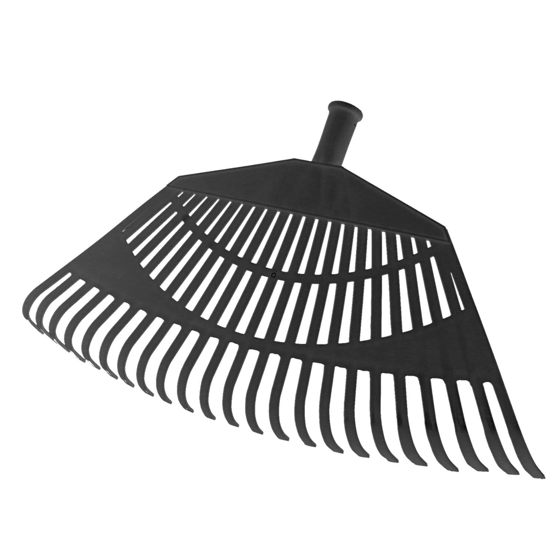 Rastrillo Jardin Plastico Trapezoidal Color Negro 32 Dientes
