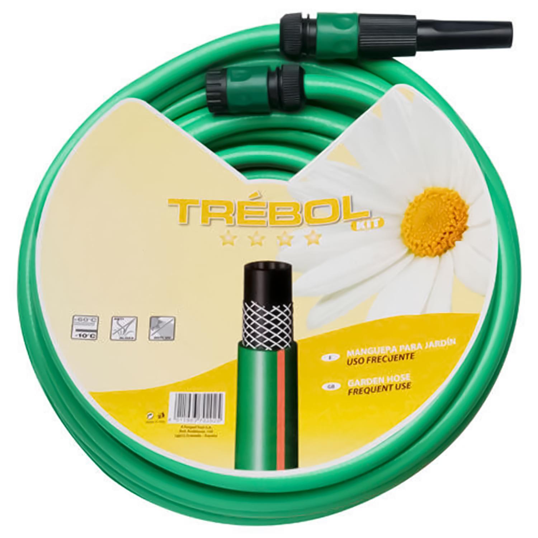 Manguera Verde Trebol Trenzado 15 mm. - 5/8