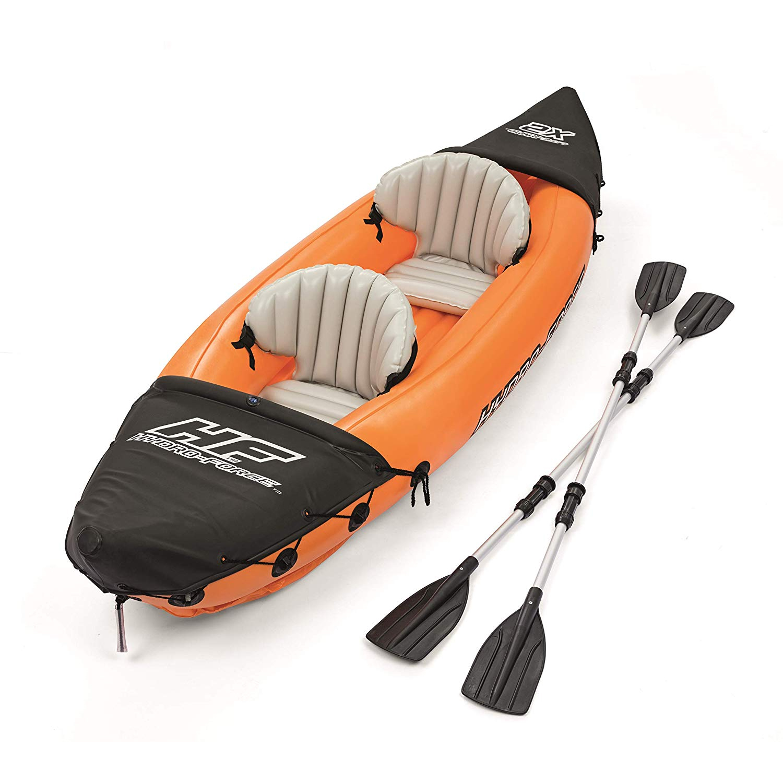 Flotador Kayak Semirigido 330 x 94 cm. 2 personas Max. 160 Kg. Con Remos