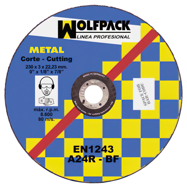 Disco Corte Abrasivo Metal 300x3,0x30 mm.