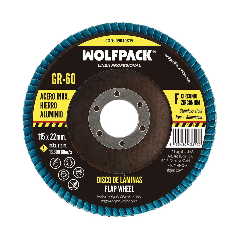 Disco Laminas Abrasivo Para Amoladora Ø 115 mm. Grano 60 Disco Laminado Acero, Disco Lija Acero Inox