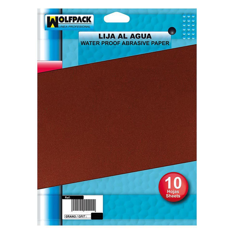 Lija Agua Grano 220 (Pack 10 Pliegos)