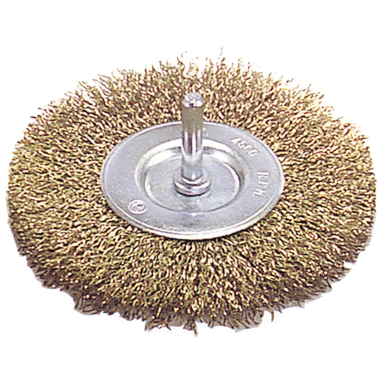 Cepillo Acero latonado Disco        100 mm. 1/4
