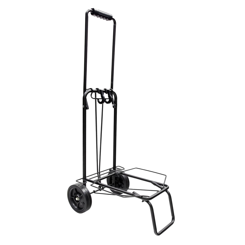 Carretilla Plegable Metalica De Carga - Porta Maletas Con Cuerda Elastica 93,5x33x44 cm. Carro De Tr