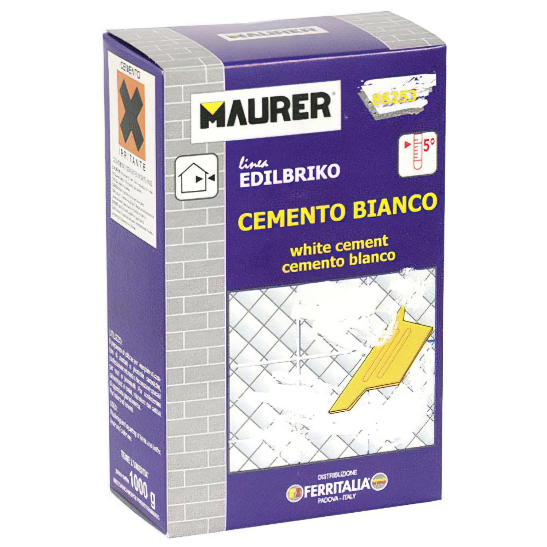 Edil Cemento Blanco Maurer (Caja 5 kg.)