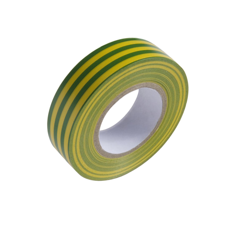 Cinta Aislante 20 m. x 19 mm.  Amarilla / Verde Uso doméstico