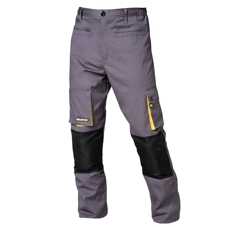 Pantalon de Trabajo Gris/Amarillo Largo Talla 54/56 XXL
