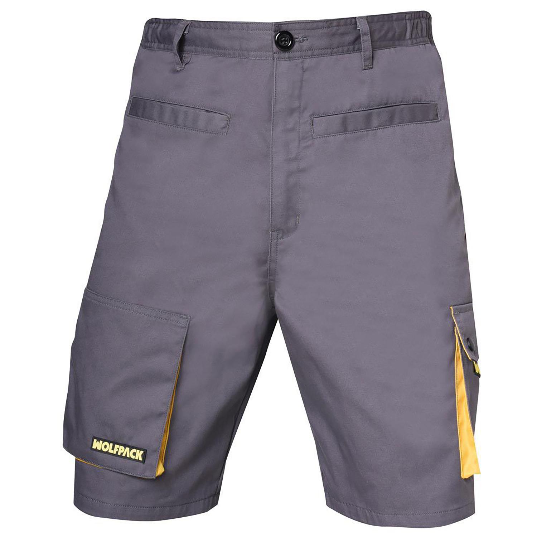 Pantalon de Trabajo Gris/Amarillo Corto Talla 42/44 M
