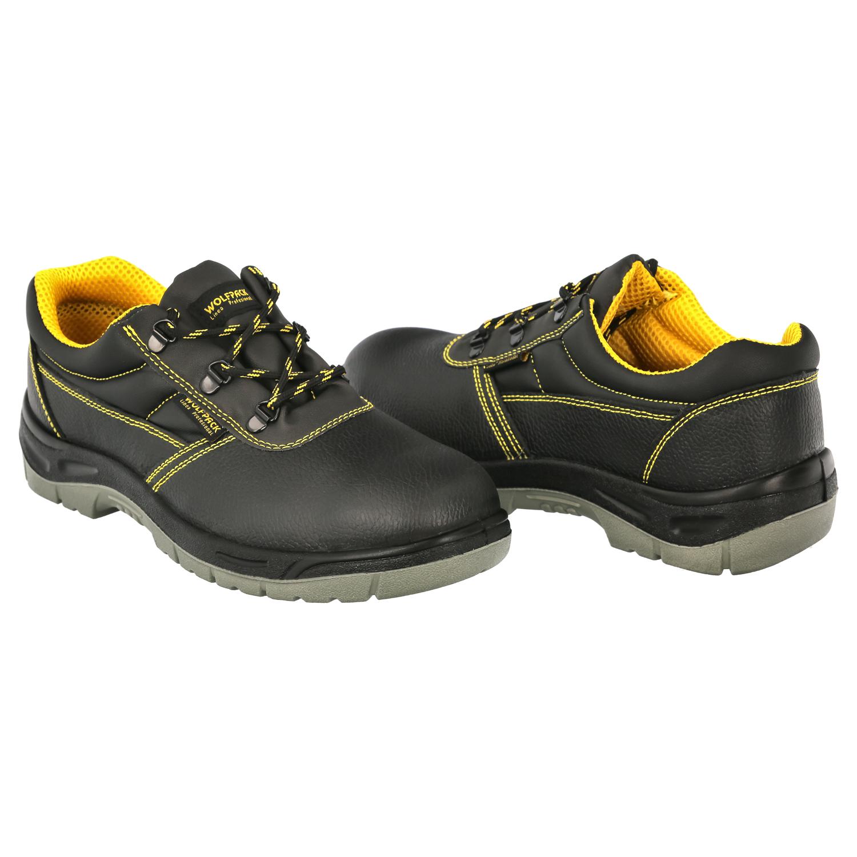 Zapatos Seguridad S3 Piel Negra Wolfpack  Nº 47 Vestuario Laboral,calzado Seguridad, Botas Trabajo.