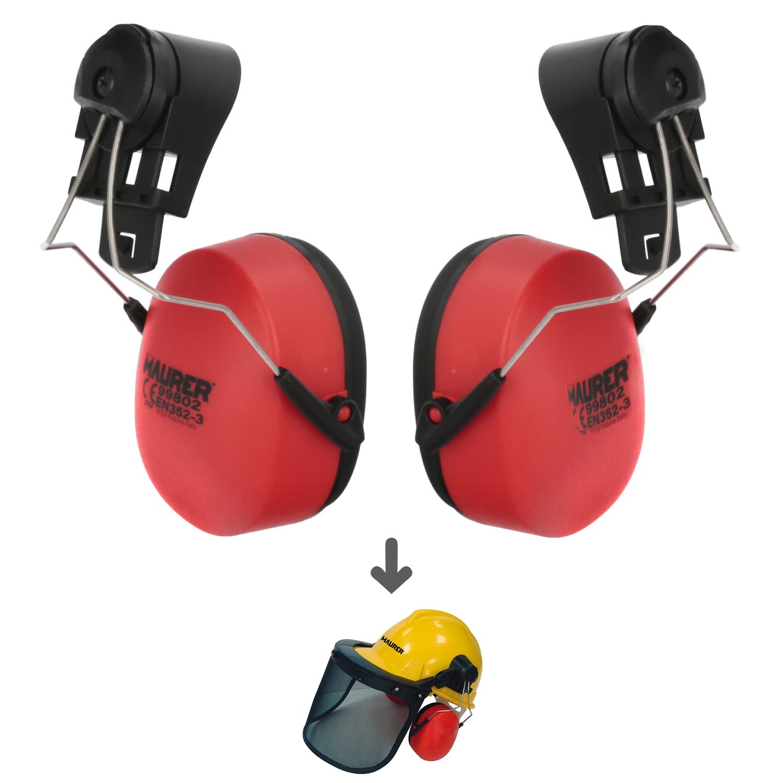 Recambio Protector Auditivo Para Casco Con Visera, Protector Facial De Rejilla y Protector Auditivo