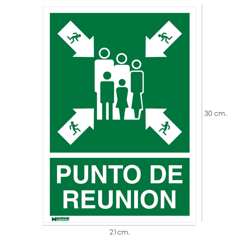 Cartel Informativo Punto De Reunion 30x21 cm.