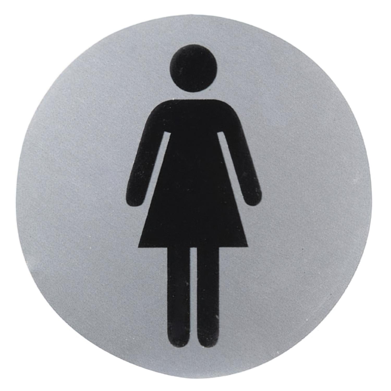 Cartel Aluminio Baño Mujer Ø12 cm.
