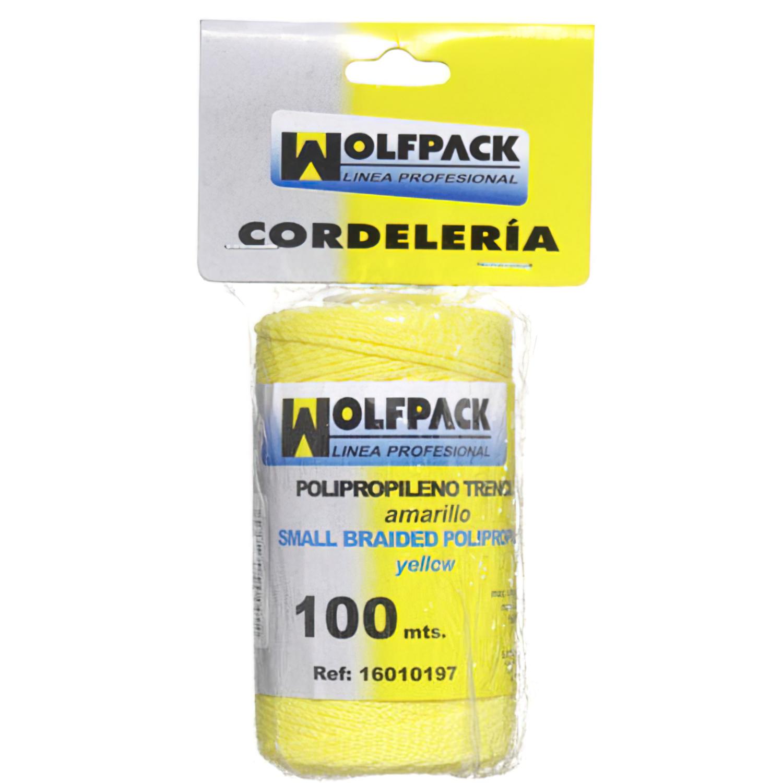 Cuerda Trencilla Polipropileno Amarillo (Bobina 100 Metros)
