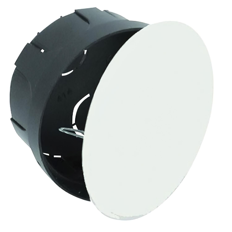 Caja Empotrar Registro Con Tapa Ø 80 x 40 Gancho Metálico