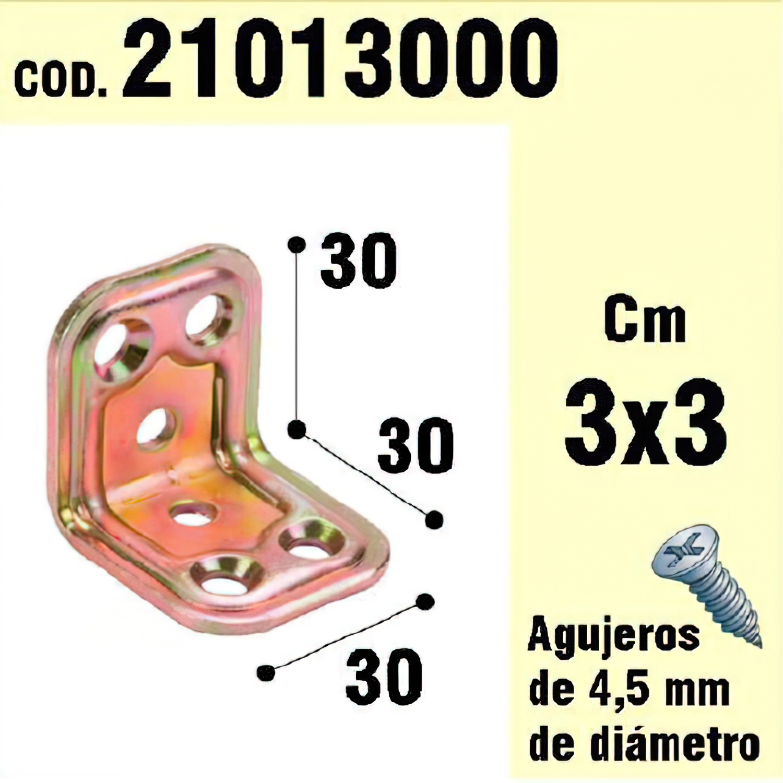 Soporte Para Madera Ángulo   30 x 30 x 30 mm.