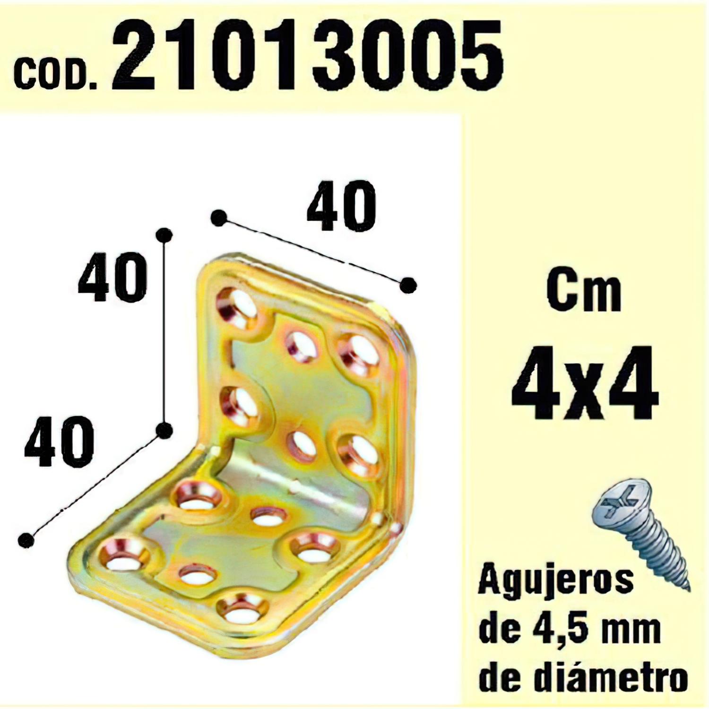 Soporte Para Madera Ángulo   40x40x40 mm.