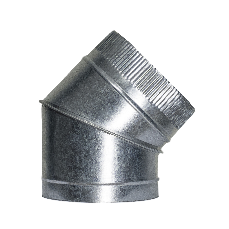 Codo Estufa Galvanizado de  250 mm. 45° (0,8 mm.)
