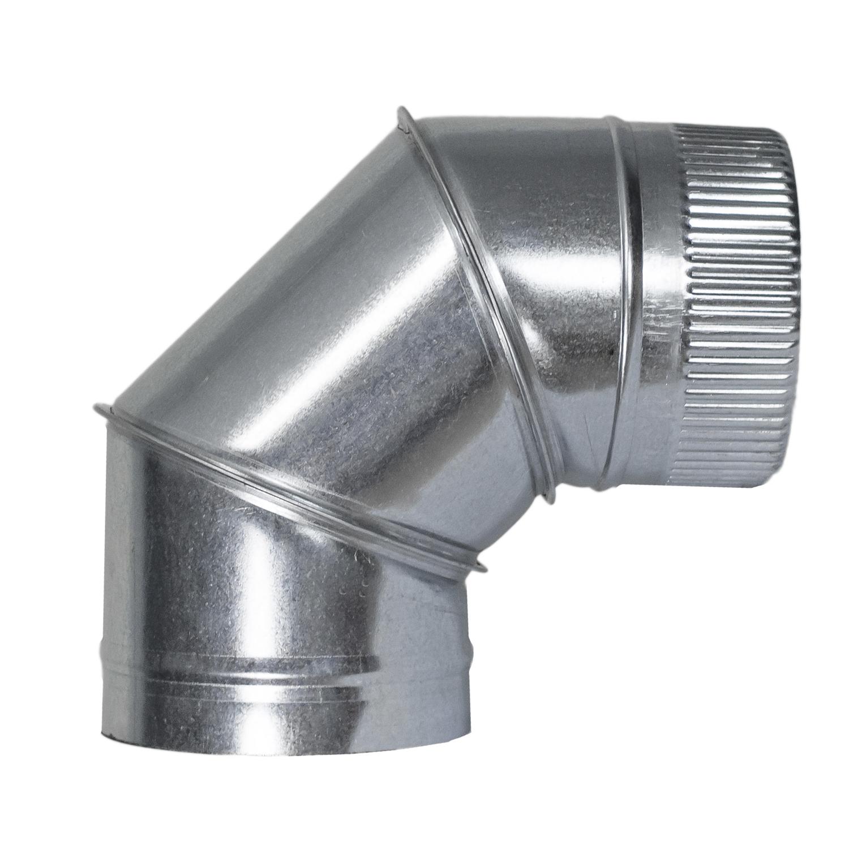 Codo Estufa Galvanizado de 250 mm. 90° (0,8 mm.)