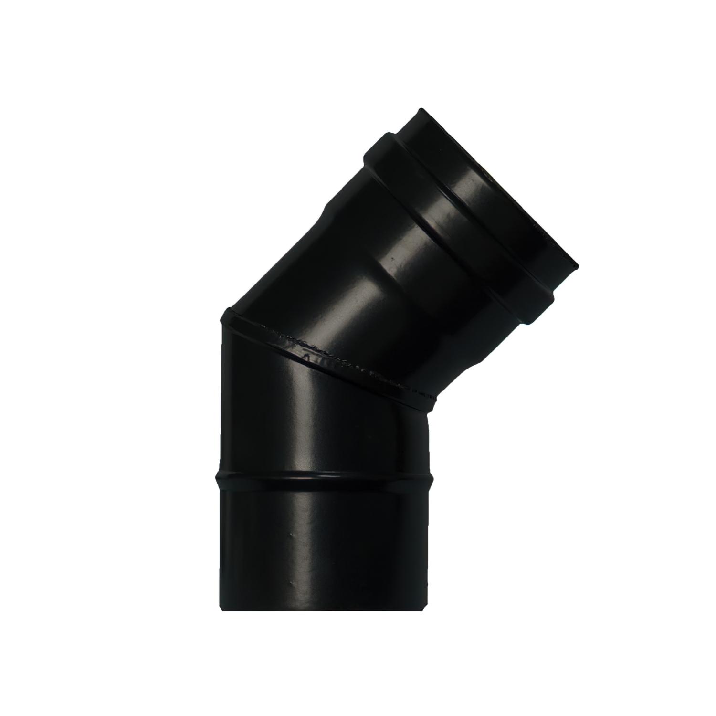 Codo Estufa Pellet Vitrificado Ø80 mm  45°