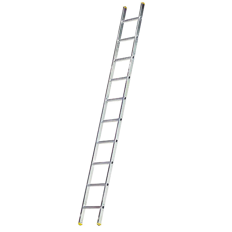 Escalera Aluminio 1 Tramo, 14 Peldaños. Antideslizante, Resistente.