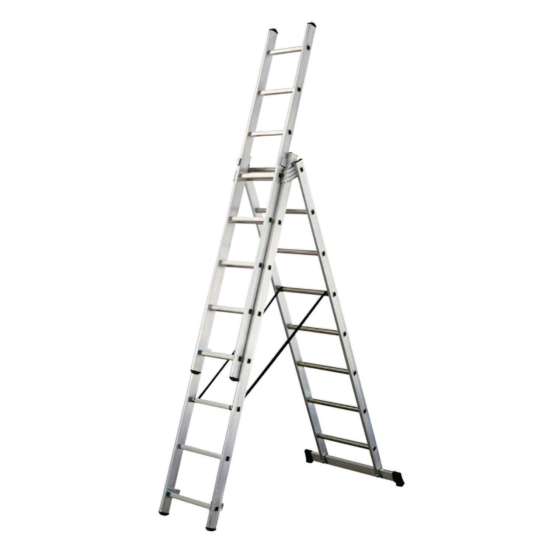 Escalera Aluminio Industrial 14+14+14   3x4 mt.