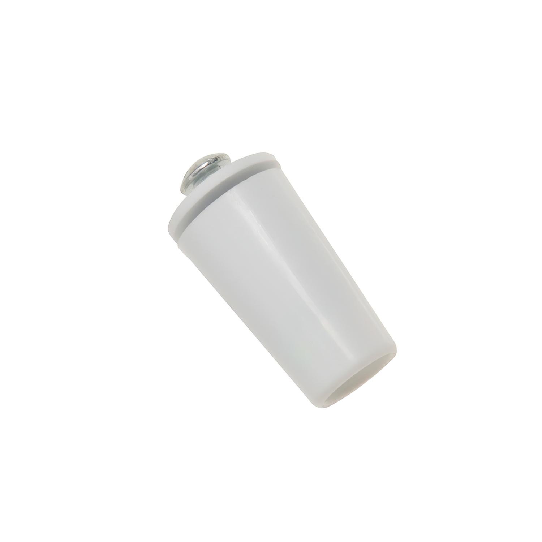 Tope Persiana Con Tornillo 40 mm. Blanco