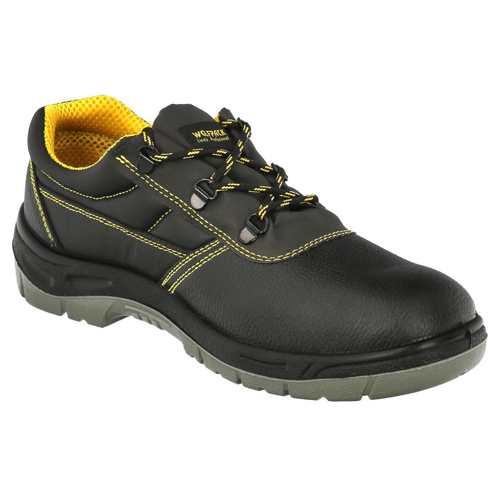 Zapatos Seguridad S3 Piel Negra Wolfpack  Nº 43
