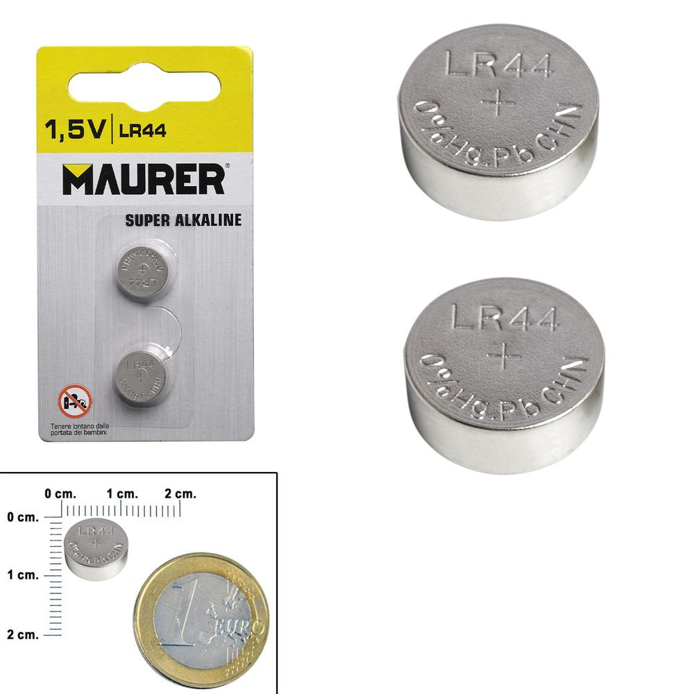 Pila Boton Alcalina Maurer LR44 (2 piezas)