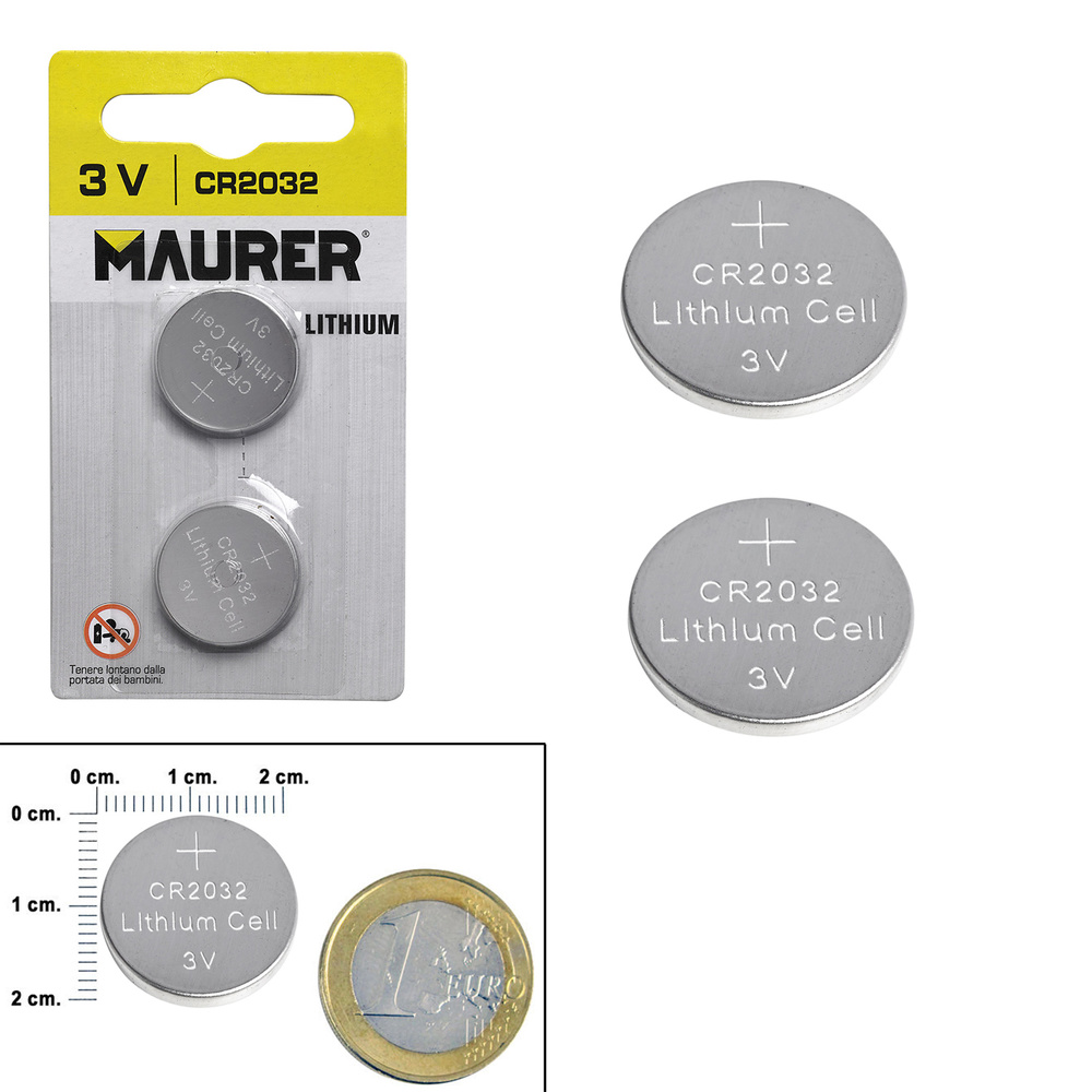 Pila Boton Alcalina Maurer CR2032 (2 piezas)