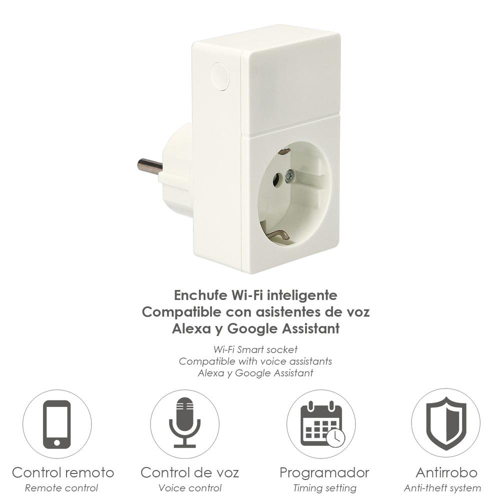 Enchufe Inteligente WI-FI 1500 W, 230-240 V.