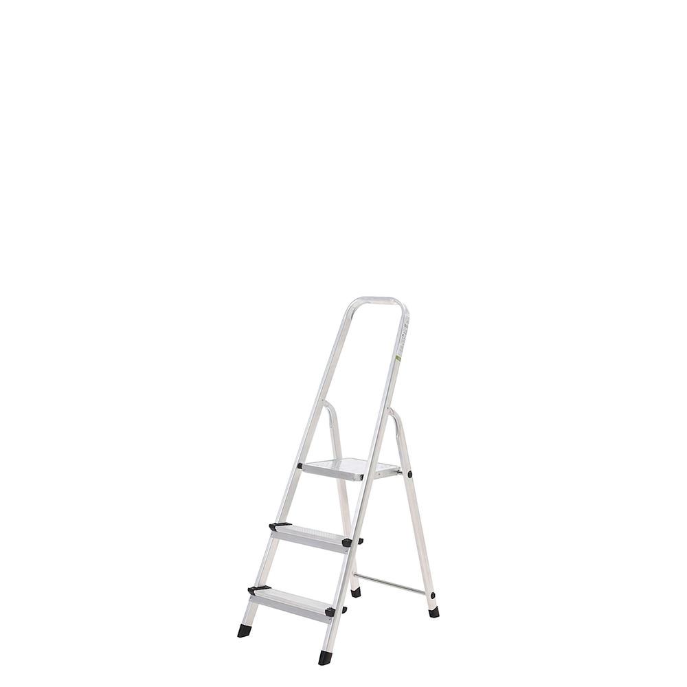 Oryx Escalera Aluminio 3 Peldaños Plegable, Uso doméstico, Antideslizante, Ligera y Resistente