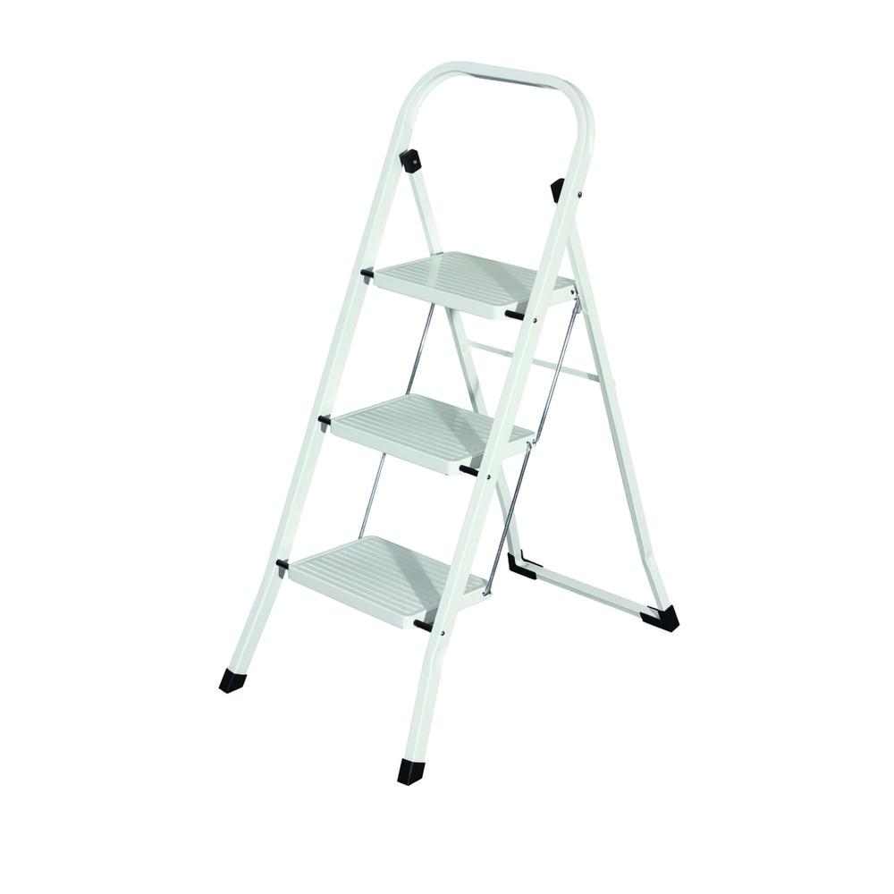 Escalerilla Acero 3 Peldaños Uso Doméstico